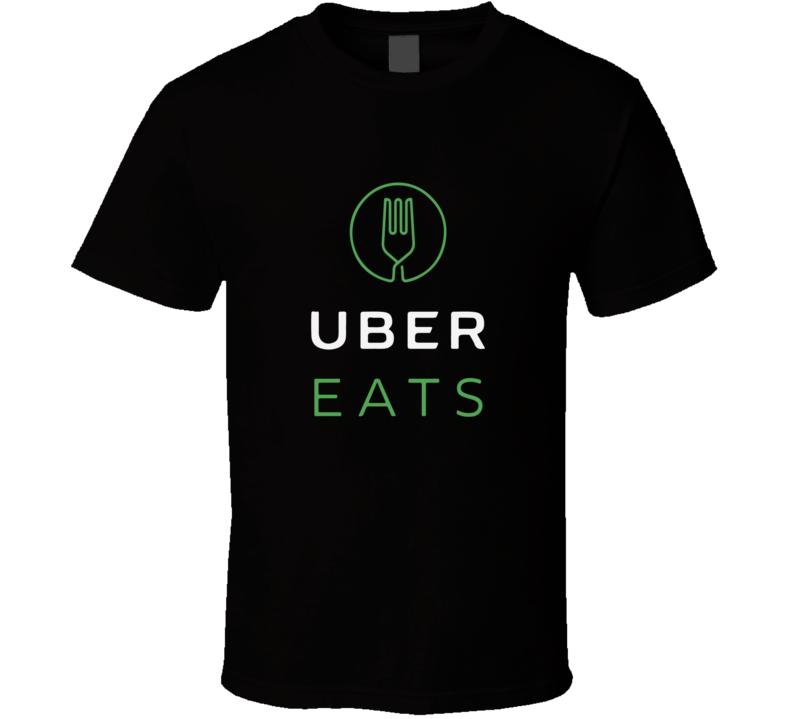 Uber Eats Logo Tee Food Delivery Driver Halloween Costume T Shirt