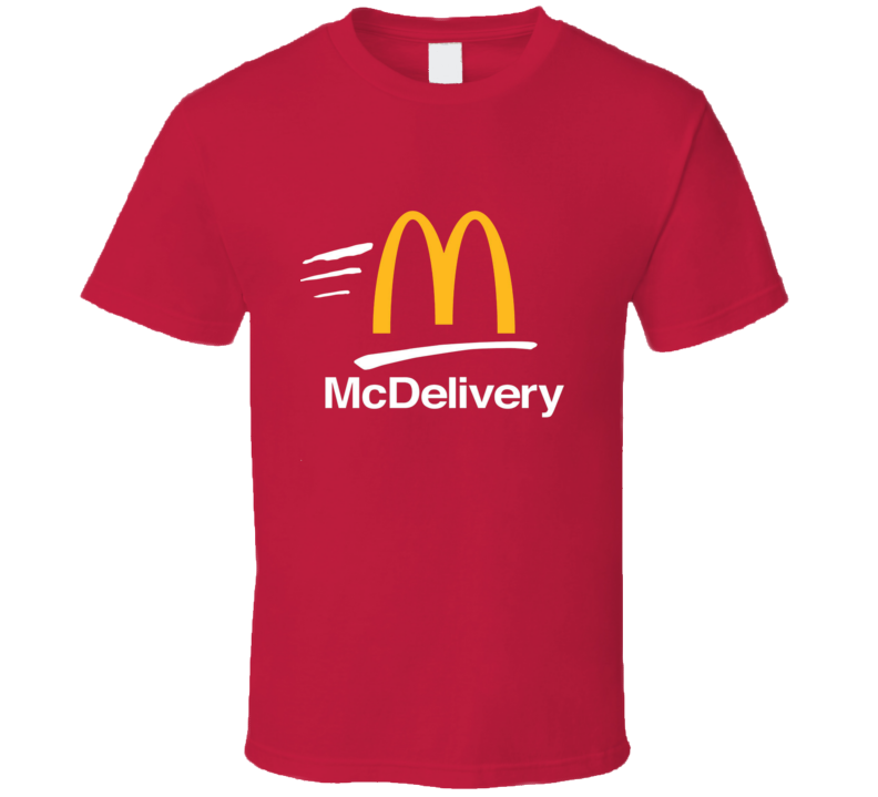 McDelivery Tee Cool McDonald's Delivery Uber Halloween Costume T Shirt