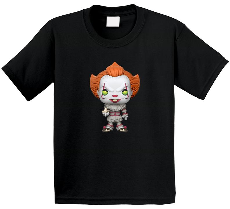 Clown Pennywise Tee Cool Kids Halloween Movie Fan T Shirt