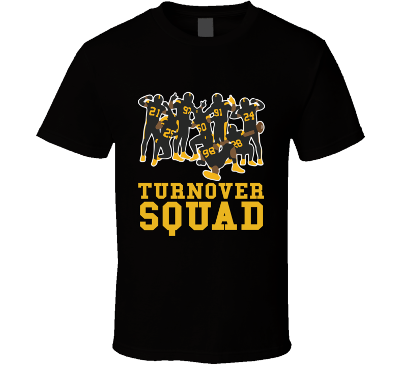 Turnover Squad Tee Cool Pittsburgh Football Trendy T Shirt