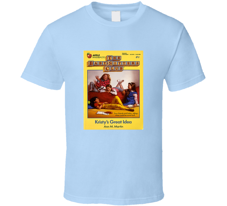 The Babysitter's Club Book Cover Tee Retro Teen Books T Shirt