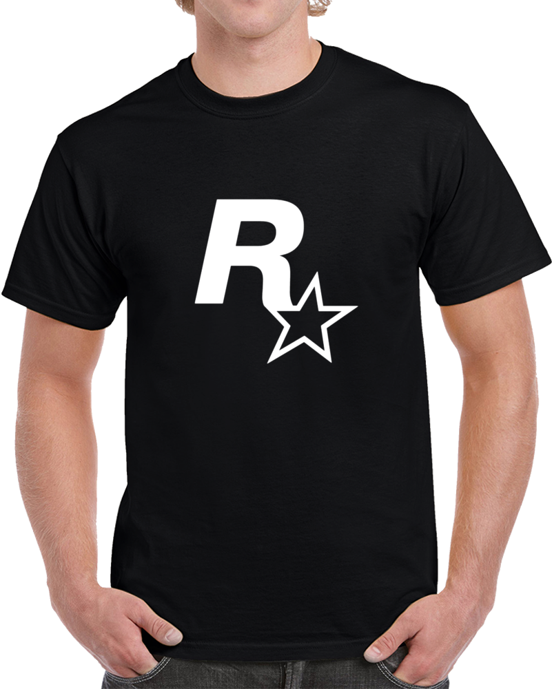 Rockstar Games Logo Tee Cool Gaming T Shirt