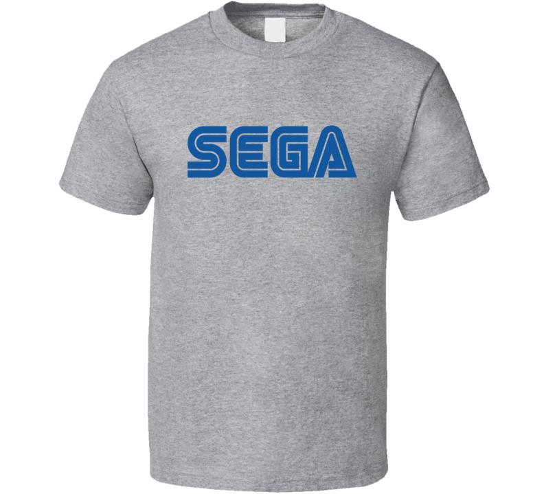 Sega Logo Tee Cool Retro Gaming Video Game Fan T Shirt