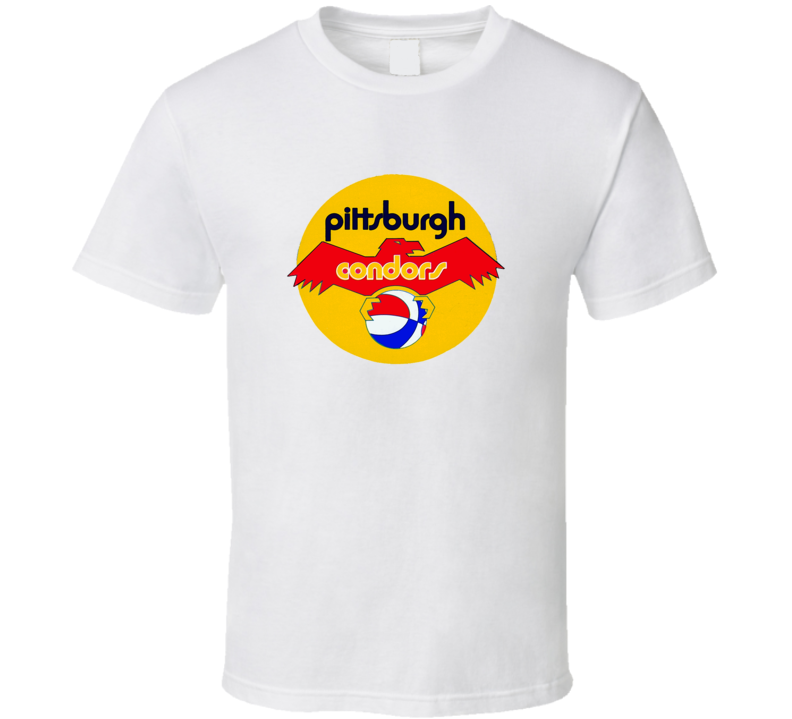 Pittsburgh Condors Tee Cool ABA Basketball Retro T Shirt