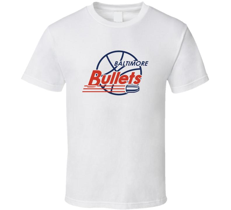 Baltimore Bullets Logo Tee Cool ABA Basketball Retro T Shirt