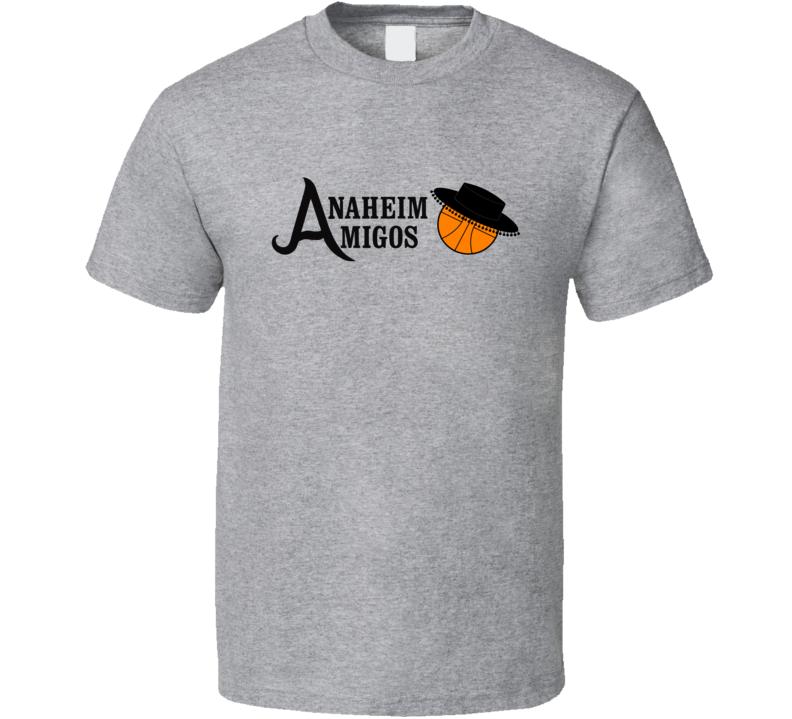 Anaheim Amigos Logo Tee Cool ABA Basketball Retro T Shirt