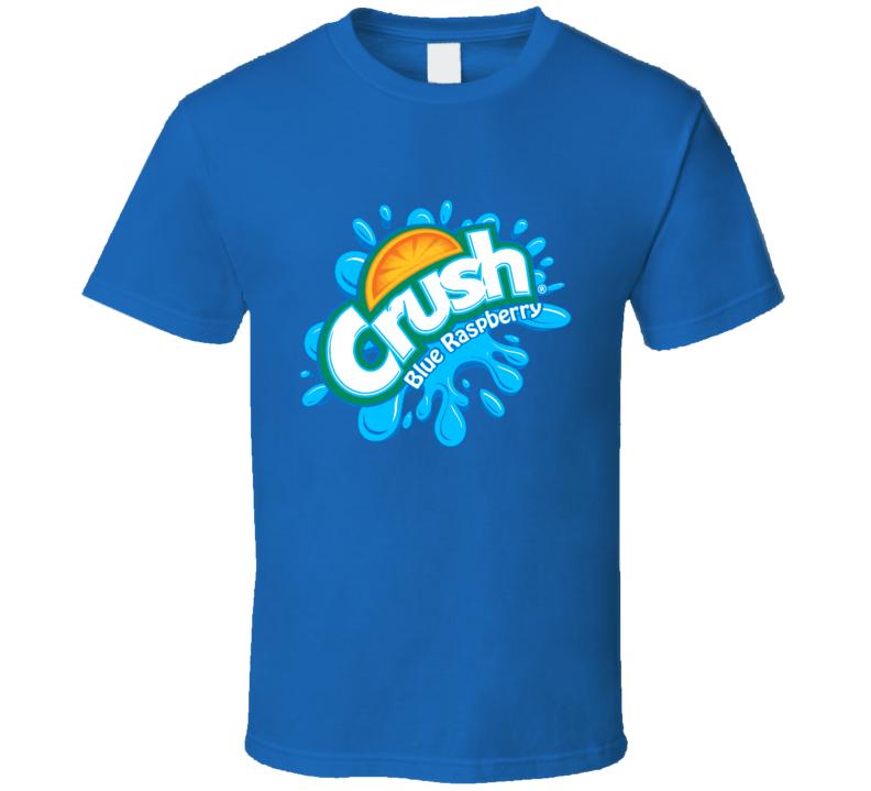 Crush Blue Raspberry Logo Tee Cool Halloween Costume Group T Shirt