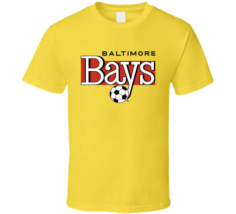 Baltimore Bays Logo Tee Cool Retro Soccer T Shirt