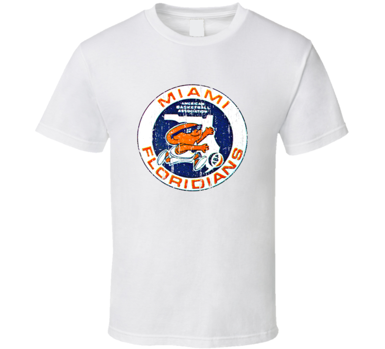 Miami Floridians Logo Tee Retro ABA Basketball T Shirt