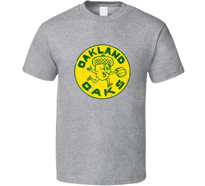 Oakland Oaks Logo Tee Retro ABA Basketball T Shirt