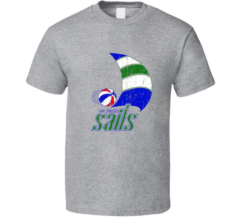San Diego Sails Logo Tee Retro ABA Basketball T Shirt
