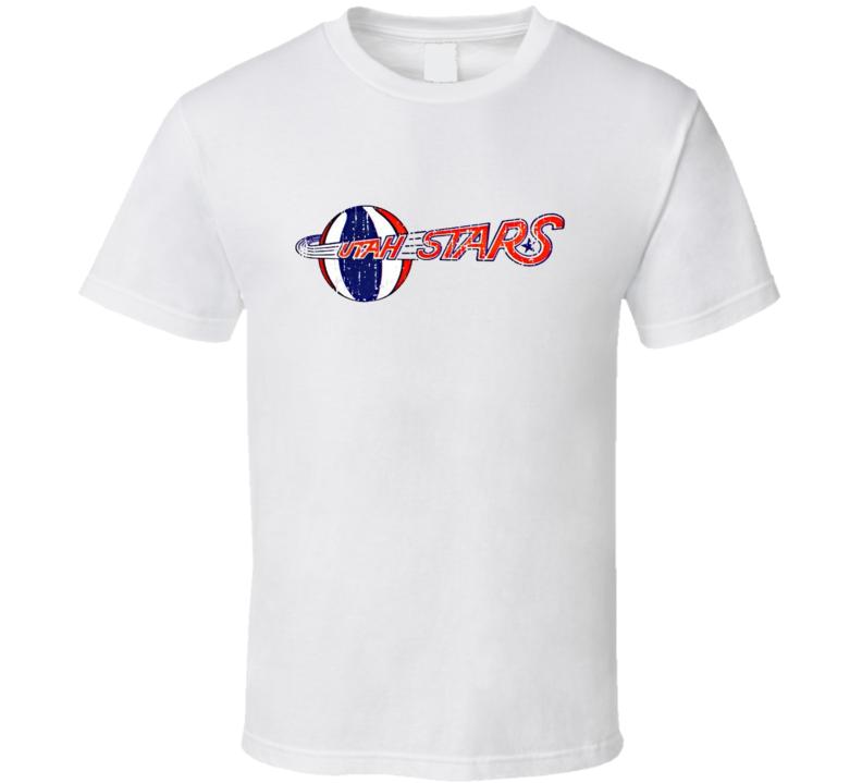 Utah Stars Logo Tee Retro ABA Basketball T Shirt