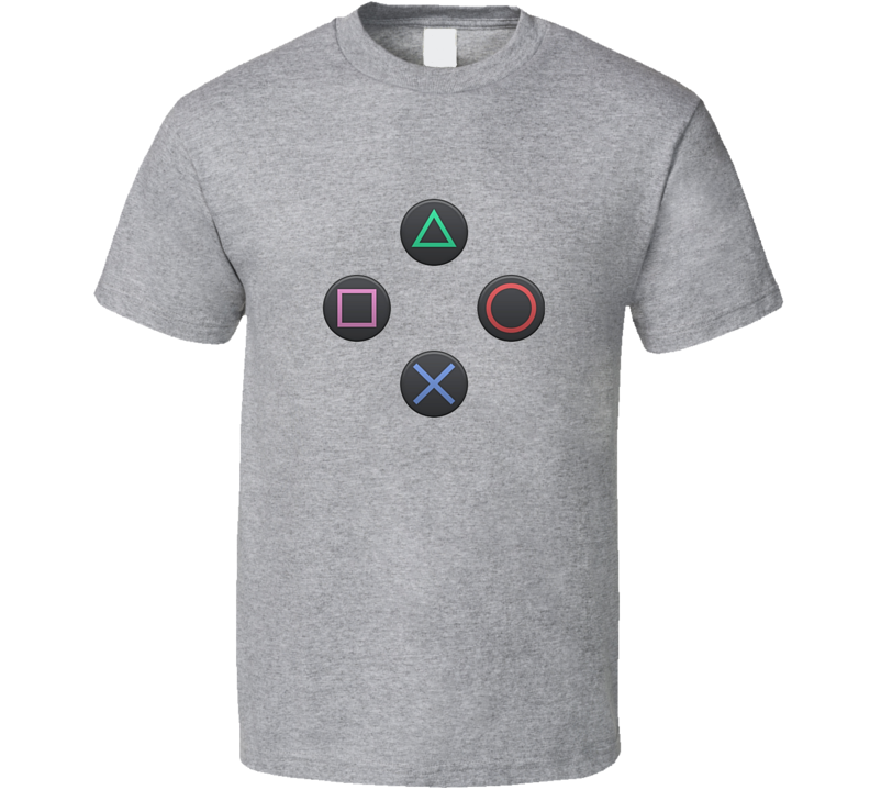 Playstation Controller Buttons Tee Cool Gaming T Shirt