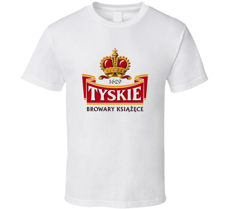 Tyskie Polish Beer Logo Tee Cool Drinking T Shirt