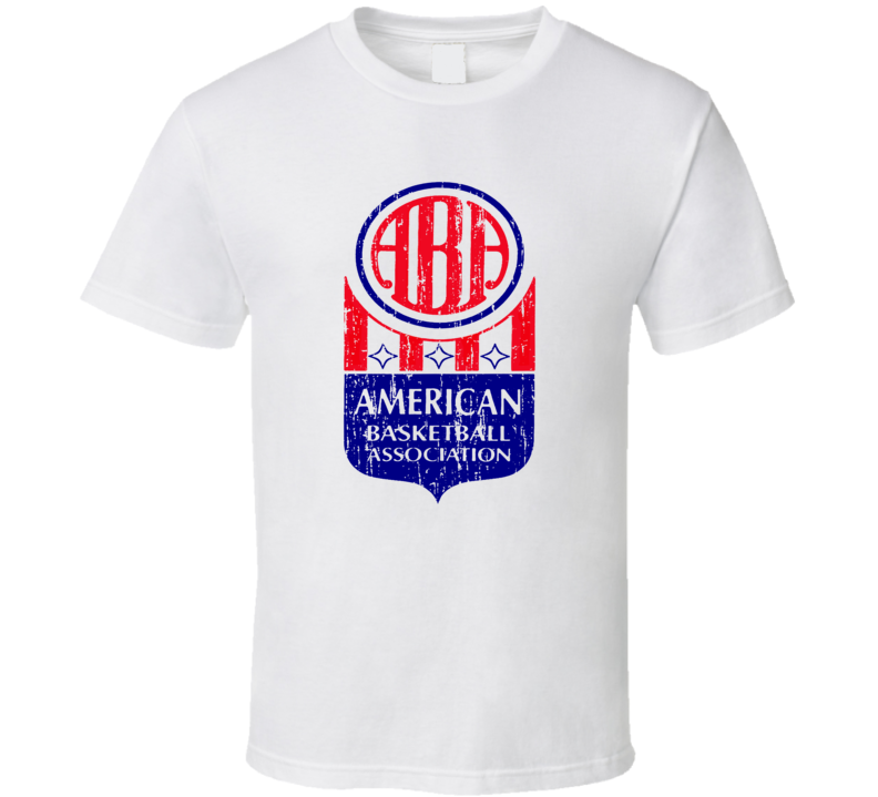 American Basketball Association Logo Tee Cool Retro Aba T Shirt