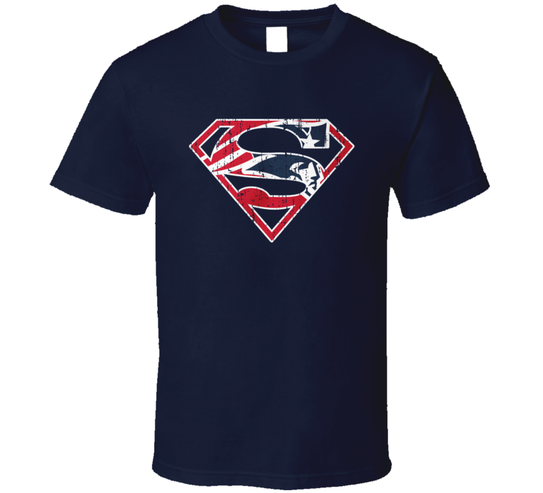 New England Football Tee Cool Superman Parody Patriotic T Shirt