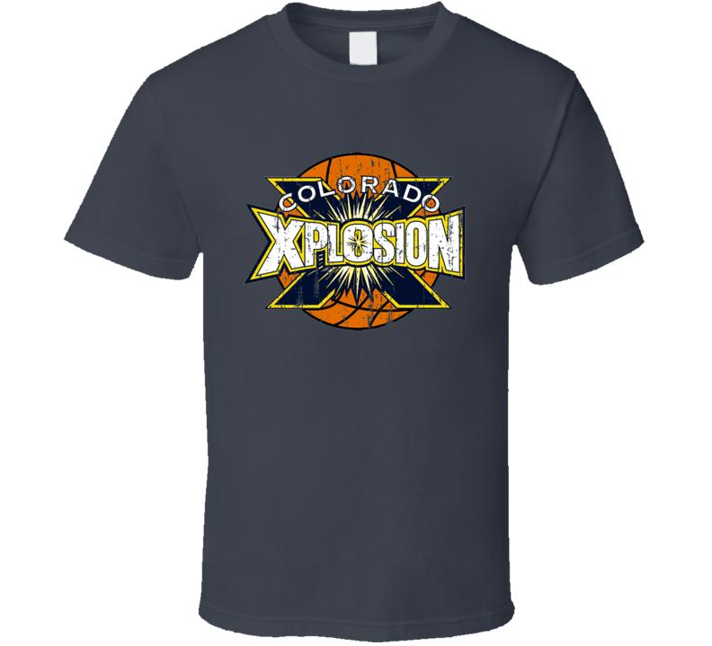 Colorado Xplosion Retro Logo Tee Cool ABL Basketball T Shirt