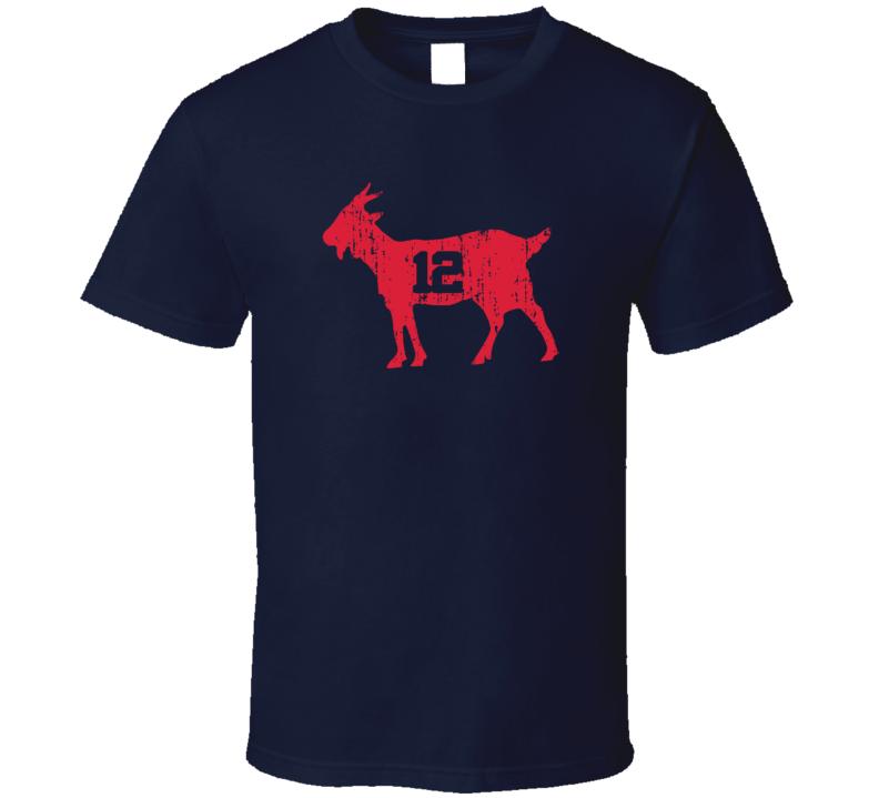 New England Goat Tee #12 Tom Brady Football T Shirt