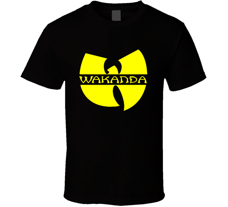 Wakanda Logo Tee Black Panther Wutang Wakanda Avengers Comic T Shirt