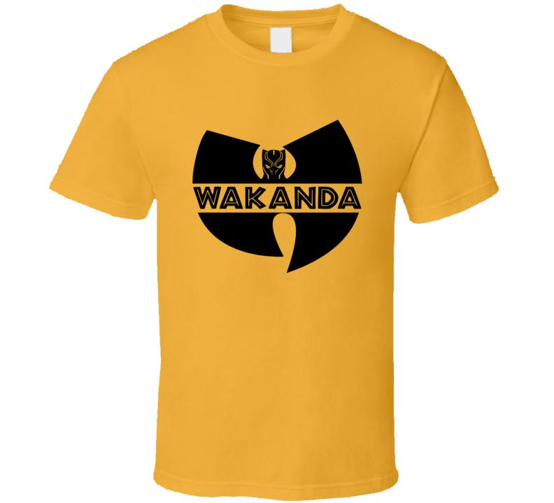 Wakanda Logo Tee Black Panther Wutang Avengers Comic T Shirt