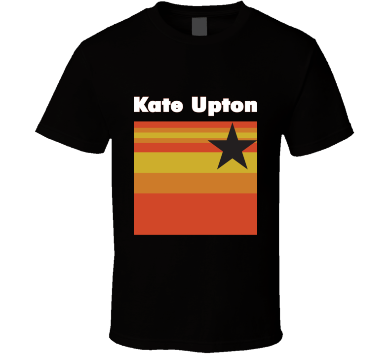 Kate Upton Houston Logo Baseball Tee Trendy Fan T Shirt