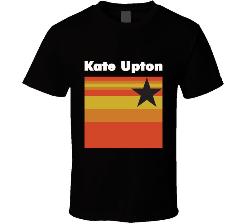 Kate Upton Houston Logo Baseball Tee Trendy Fan T Shirt