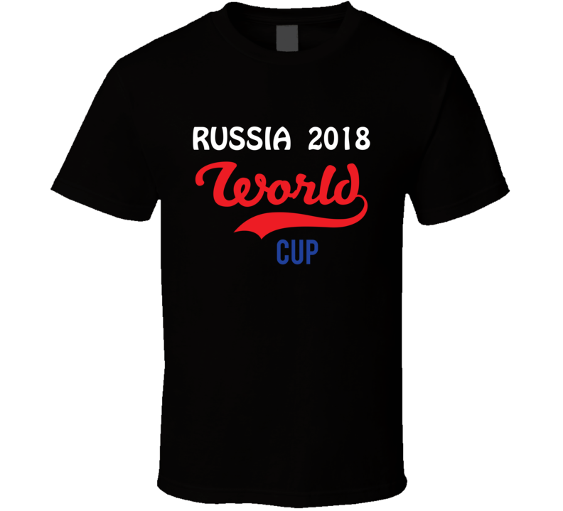 Russia World Cup 2018 Tee Cool Soccer Trendy T Shirt