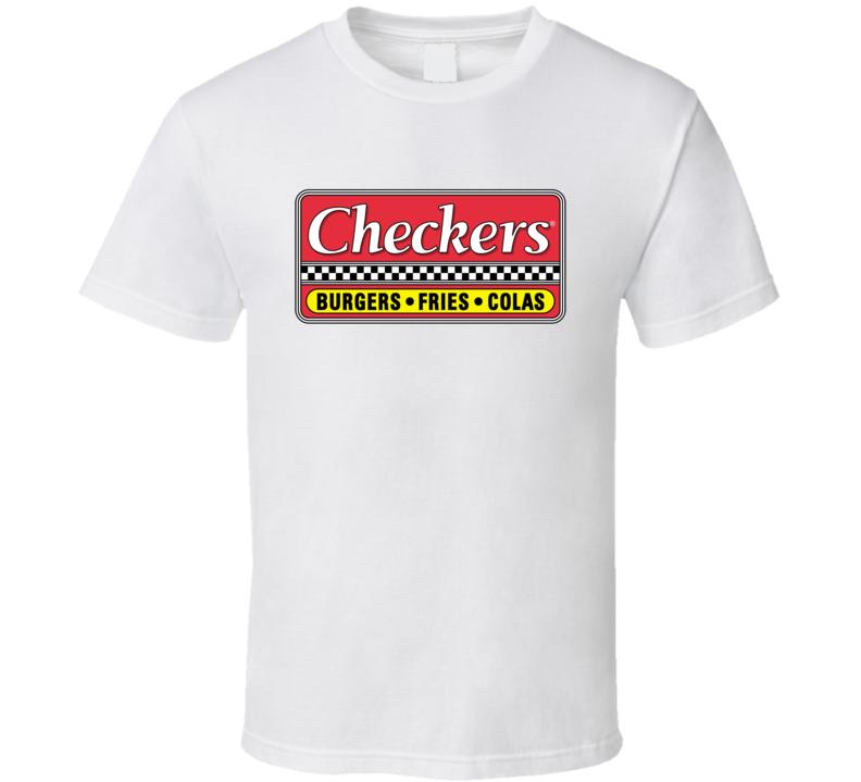 Checker's Fast Food Logo Tee Cool Restaurant T Shirt
