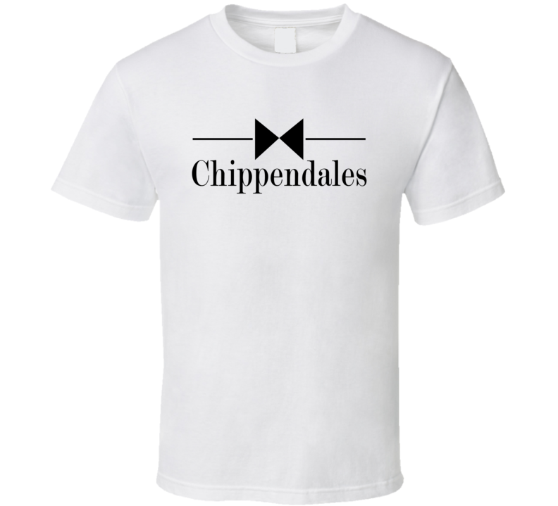 Chippendales Logo Tee Funny Male Striptease Dancer Halloween Costume T Shirt