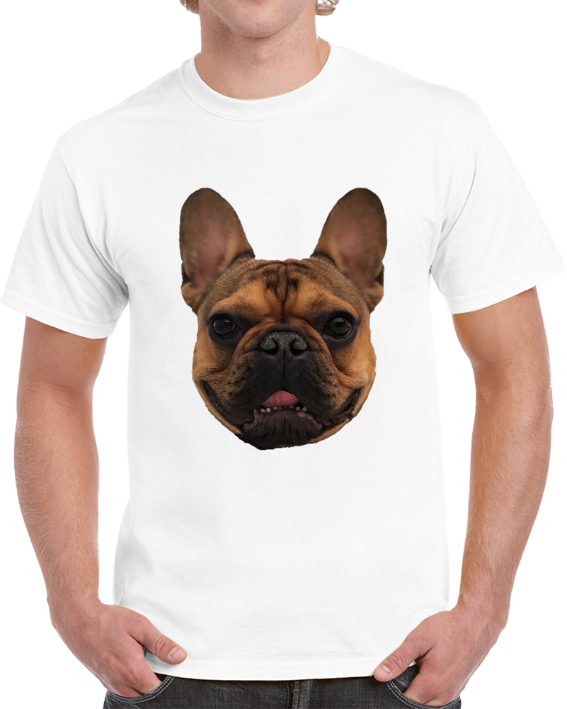 Marcel Tee Cool French Bulldog Frenchie Head T Shirt