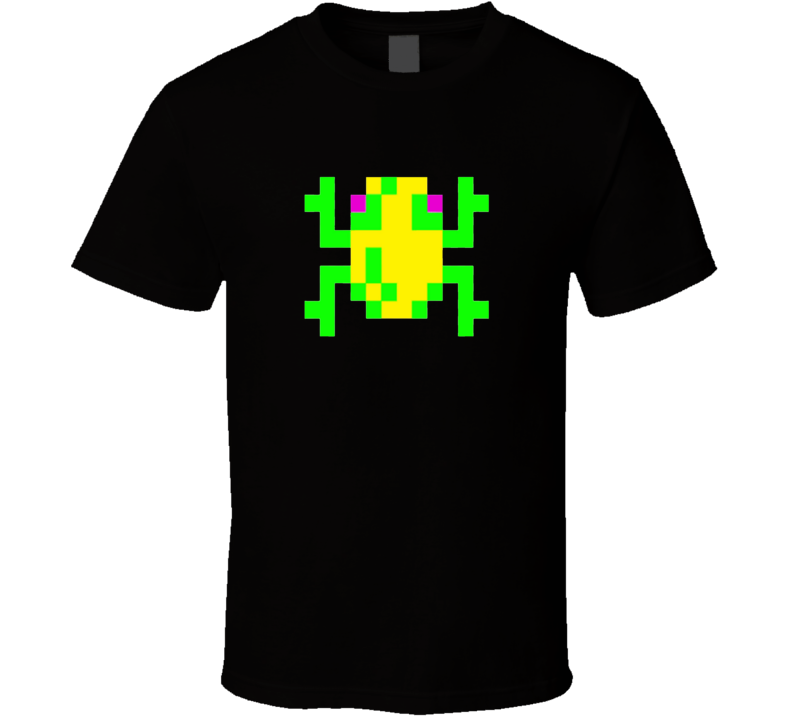 Frogger Tee Cool Retro Arcade Video Game Cool Gaming T Shirt