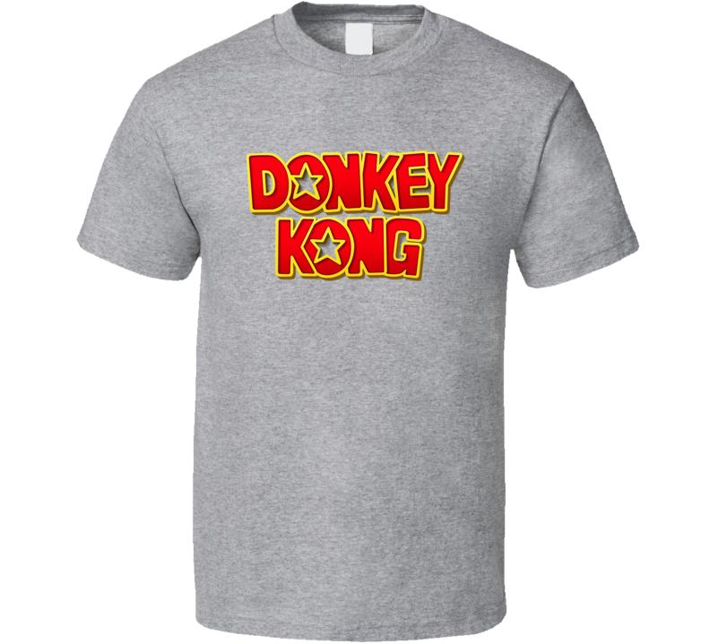 Donkey Kong Tee Cool Video Game Logo T Shirt