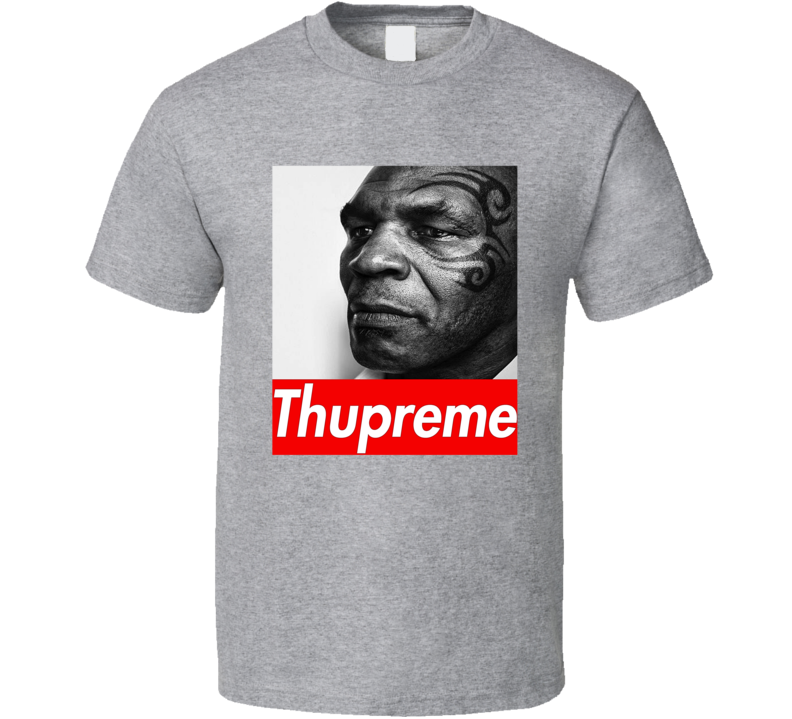 Thupreme Tee Funny Mike Tyson Supreme Parody Boxing Fan T Shirt