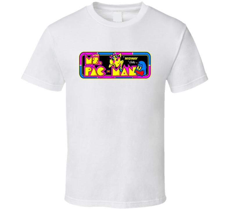 Ms Pac Man Tee Cool Retro Arcade Gaming T Shirt