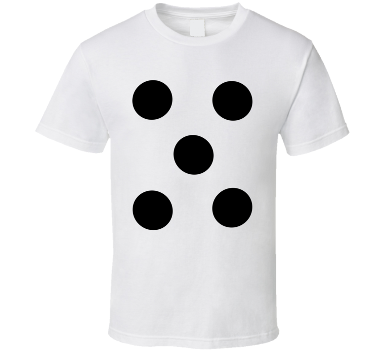 Dice Number 5 Five Tee Cool Group Halloween Costume T Shirt