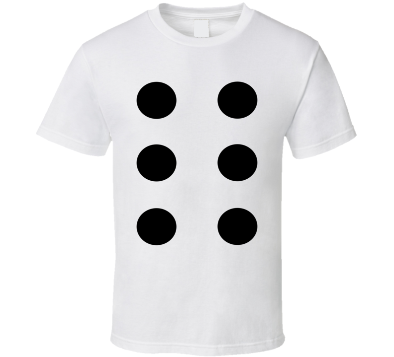 Dice Number 6 Six Tee Cool Group Halloween Costume T Shirt