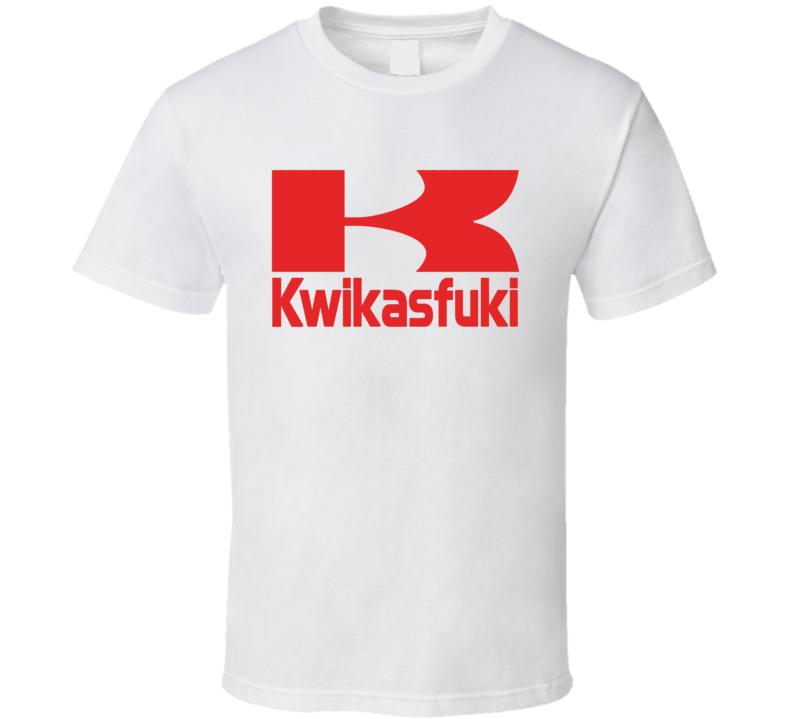 Kwikasfuki Tee Funny Kawasaki Parody Motorcycle Racing T Shirt