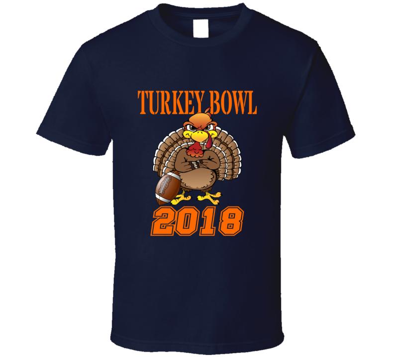 Turkey Bowl 2018 Thanksgiving Team Group Family Football T Shirt