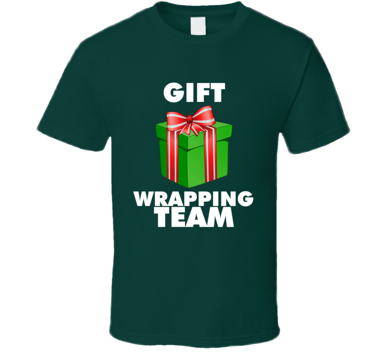 Gift Wrapping Team Tee Cool Holiday Gift Wrapper T Shirt
