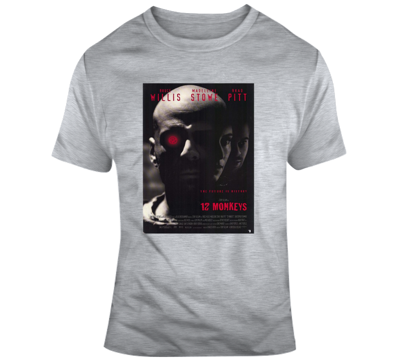 12 Monkeys Tee Cool Movie Poster T Shirt