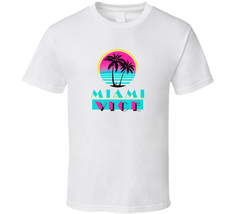Miami Vice Tee Cool Retro TV Show T Shirt