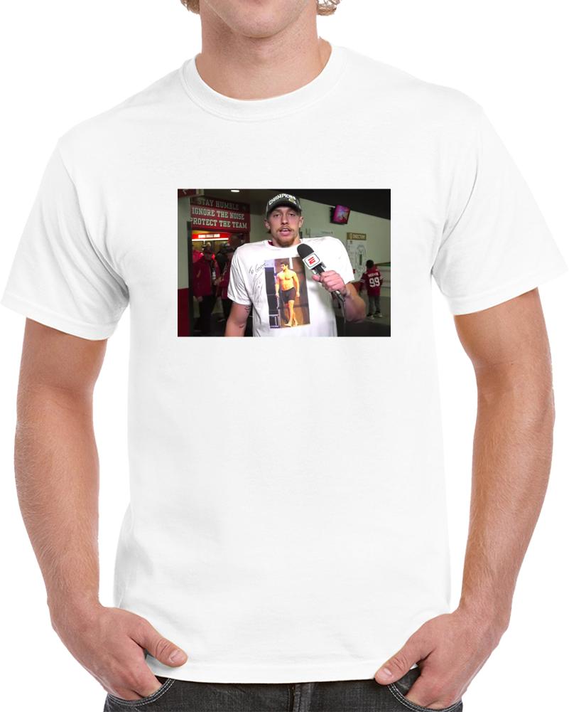 George Kittle Wears Jimmy Garoppolo Topless Shirt San Francisco Football T Shirt