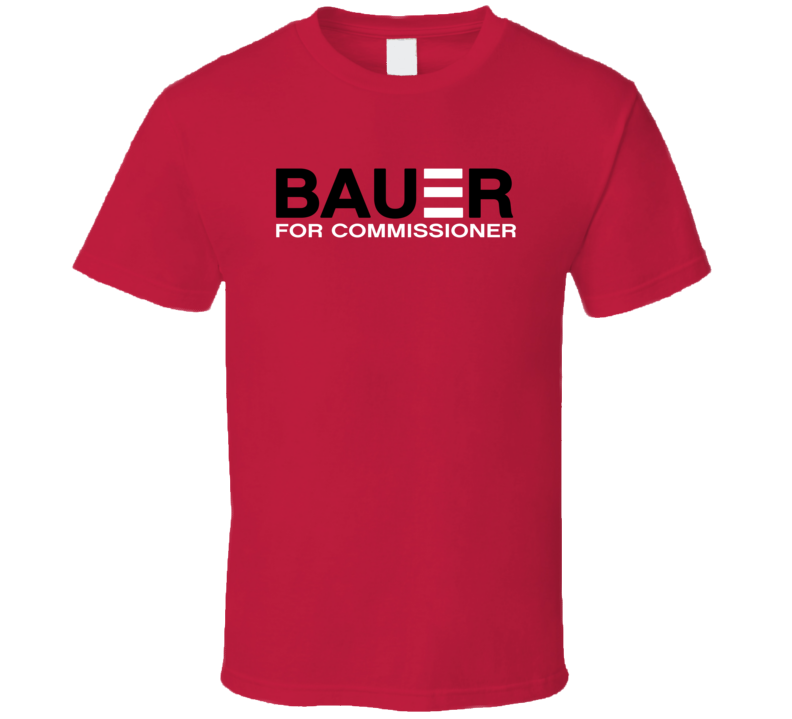 Bauer For Commissioner Trevor Bauer Cincinnati Baseball Fan T Shirt