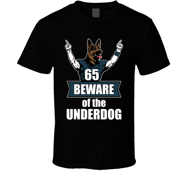 Beware The Underdog Dog Head Philly Philadelphia Nfc Champs Football T Shirt