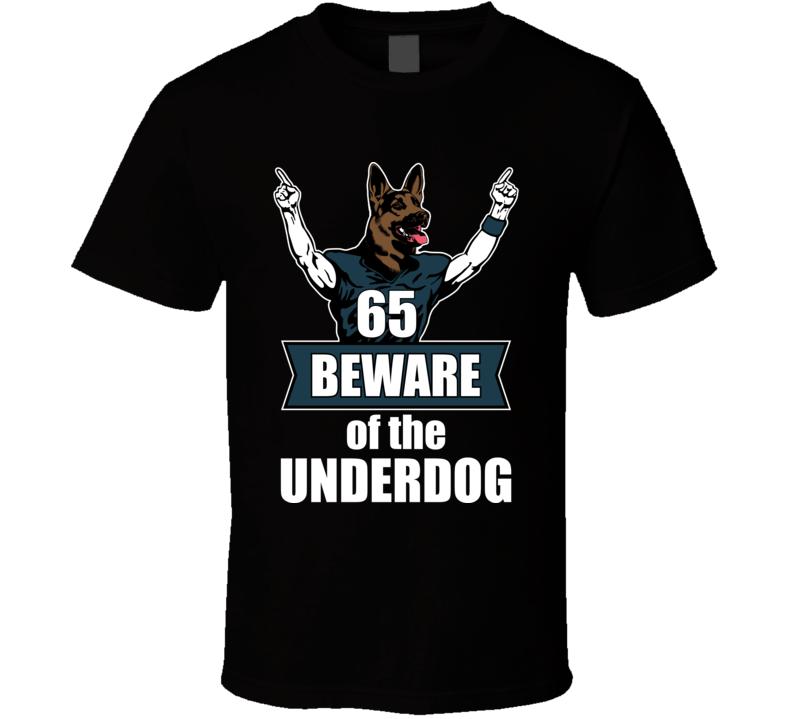 Beware The Underdog Dog Head Philly Philadelphia Nfc Champs Football T Shirt