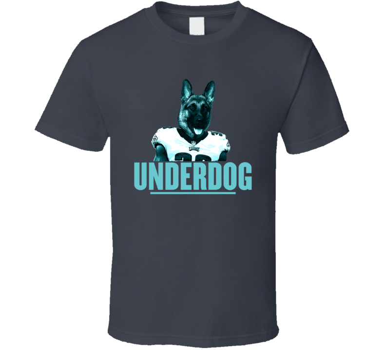 Underdog Dog Head Philly Philadelphia Nfc Champs Football T Shirt