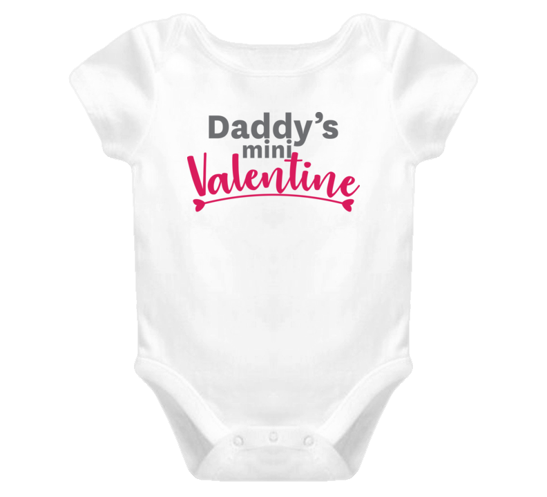 Daddy's Mini Valentine Toddler Valentine's Day T Shirt
