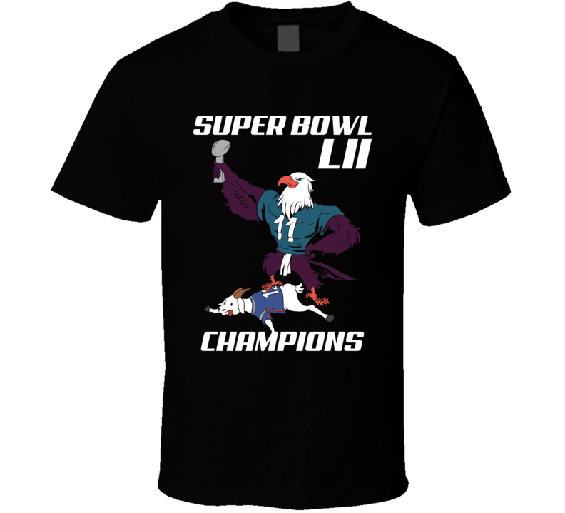 Eagle Beat Goat Philly Philadelphia Football Super Bowl T Shirt