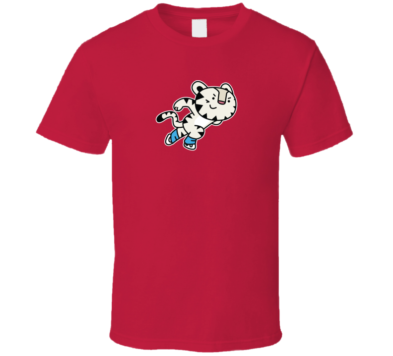 Speed Skating Soohorang Pyeongchang 2018 Winter Olympics Mascot T Shirt