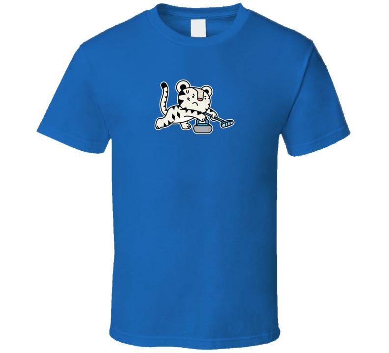 Curling Soohorang Pyeongchang 2018 Winter Olympics Mascot T Shirt